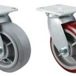4 X 2 Inch Swivel Casters, Replacement casters, Top Plate Casters and wheels, DURATOUGH PU/POLYOLEFIN