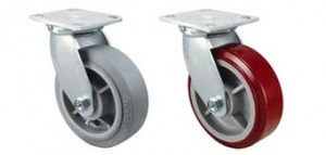 Pair of casters and wheels