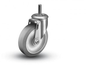 Stocking Cart Wheels and Casters,Threaded Stem Casters, 5 x 1 1/4 inch wheel,