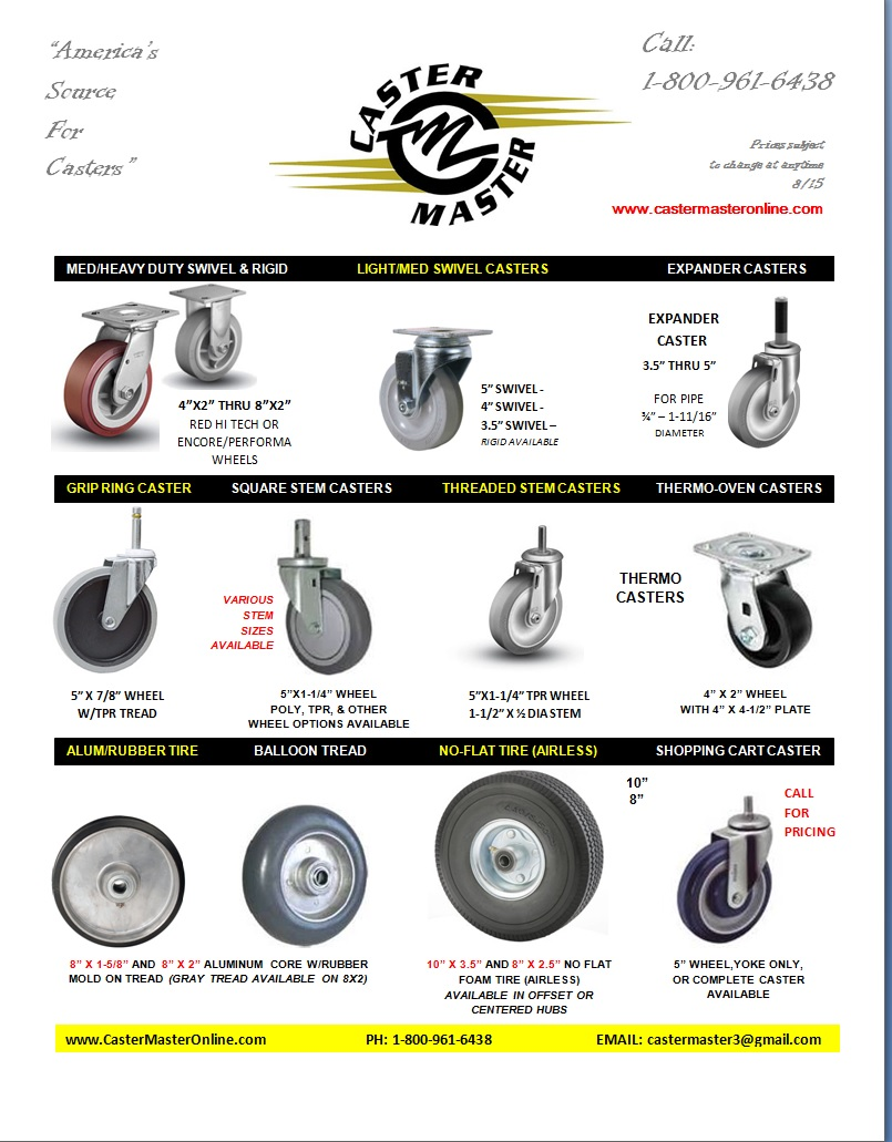 Wheels -Casters -
