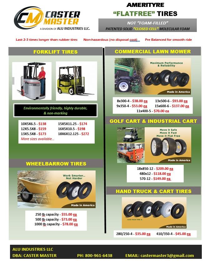 Flat Free Tires - Hand Trucks