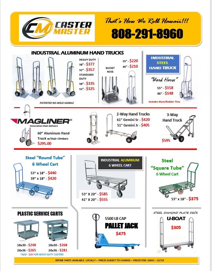 Stovking Carts-Hand Trucks Flyer Hawaii